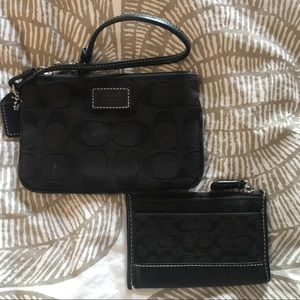 Coach wristlet and card holder